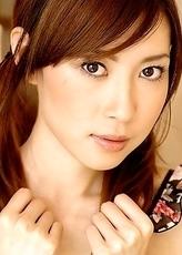 Cute teen Chinatsu Izawa dildoed